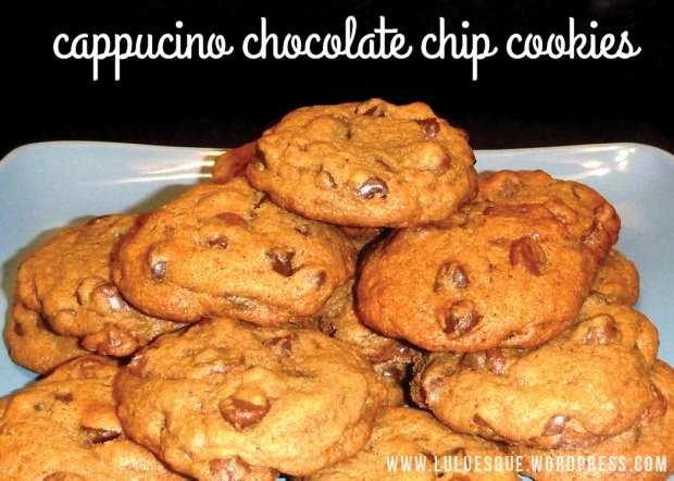 luluesque-cappucino chocolate chip cookies
