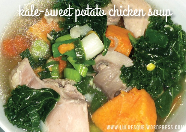 luluesque-kale sweet potato chicken soup
