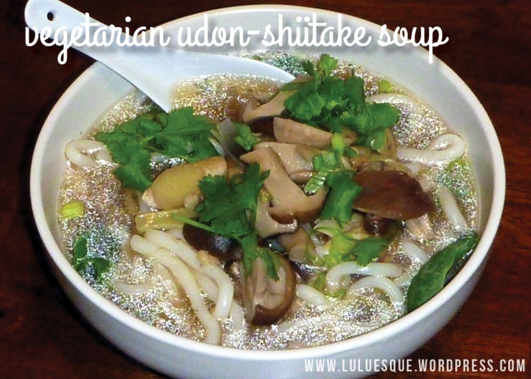 luluesque-vegetarian udon-shiitake soup