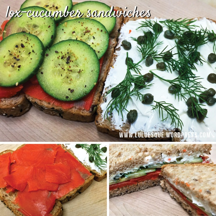luluesque-lox-cucumber sandwiches