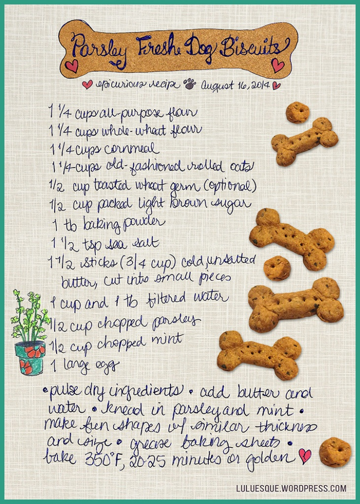 Luluesque_Parsley Fresh Dog Biscuits_150dpi