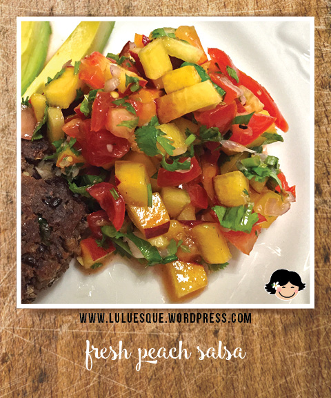luluesque_fresh peach salsa