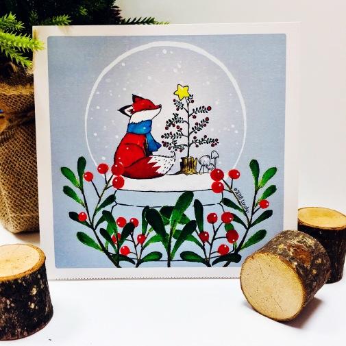 Luluesque-Etsy-Scandinavian-Nordic-Fox-Christmas-Holiday-Card1