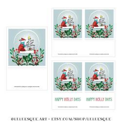 Luluesque-Etsy-Scandinavian-Nordic-Fox-Christmas-Holiday-Card4