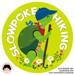 Luluesque_Etsy_Hiking Turtle Slow Hiking Vinyl Sticker